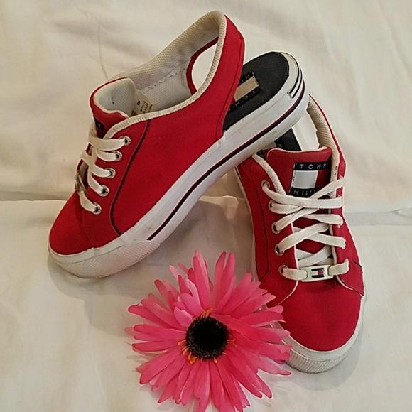 54337fac3bf755 Vtg. 90s Tommy Sling-back Platform Sneakers. M 5b2961e27386bc28381b1948
